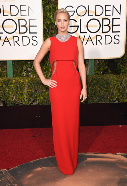 BEVERLY HILLS, CA - JANUARY 10: Actress Jennifer Lawrence attends the 73rd Annual Golden Globe Awards held at the Beverly Hilton Hotel on January 10, 2016 in Beverly Hills, California.   Jason Merritt/Getty Images/AFP