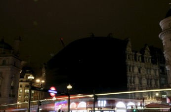 Piccadilly Circus is shown during Earth Hour in London, Britain March 19, 2016. REUTERS/Neil Hall
