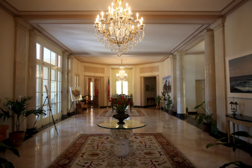A hall is seen inside the U.S. ambassadorial residence, where U.S. President Obama and his family are scheduled to stay during their visit to Cuba, in Havana